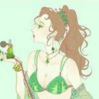 绿色长发动漫美男头像图片