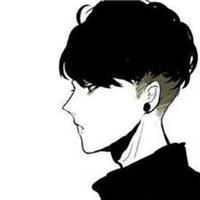 冷酷黑白动漫男生头像