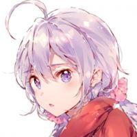 紫色长发动漫女生头像