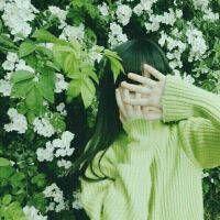 快手最火绿色头像女生 最近超火的绿色头像