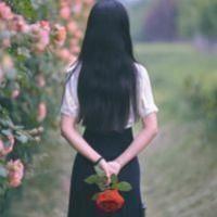 女孩头像背影长发唯美